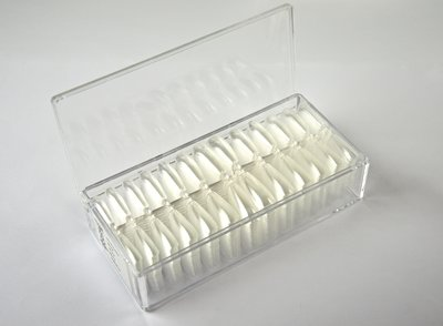 Press-on / Showtips Coffin Clear box 520 stuks