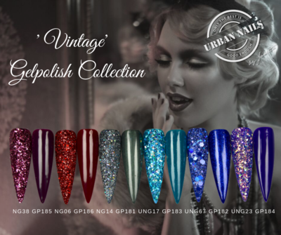 Vintage Gel Polish Collection met bijpassende Glitters