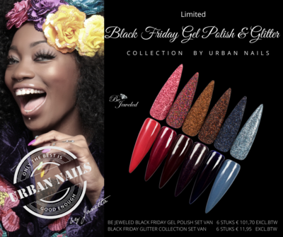 Black Friday Gel Polish Collection + Glitter Collection by Urban Nails