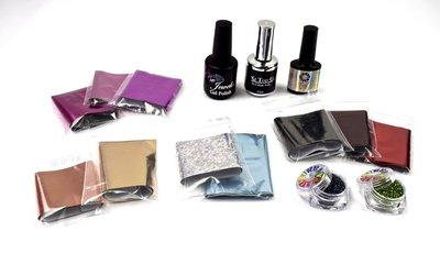 Glitter Box Foil - White