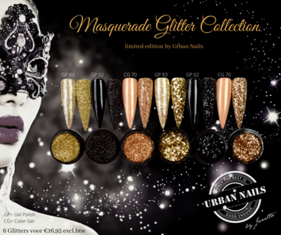 Masquerade Glitter Collection Limited by Urban Nails