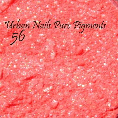 Pure Pigment by Urban Nails nr. 56 shimmer neon rood