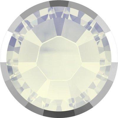 Swarovski Rimmed Flat Back White Opal SS16