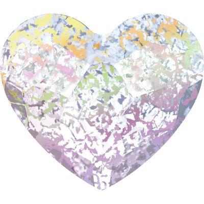 Swarovski Heart Crystal White Patina 6mm