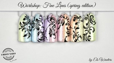 Workshop Fine Lines Spring edition by Els Wauters 14 Mei 2018