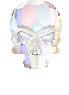 Swarovski Skull Crystal AB ( 2 stuks )