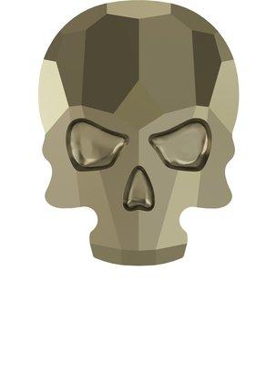 Swarovski Skull Metallic Light Gold ( 2 stuks )
