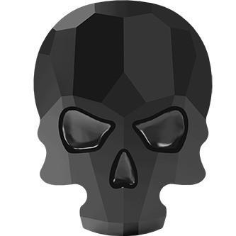 Swarovski Skull Jet ( 2 stuks )