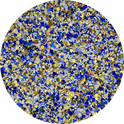 Roly Poly 30 (donkerblauw,blauw,goud)
