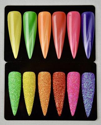 Cat Eye gelpolish Summer & Diamond Line glitter Summer set