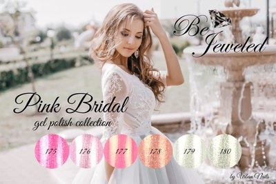 Pink´Bridal´ Gelpolish Collection Be jeweld Urban Nails