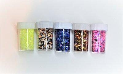 Glitter assortie 10 gram
