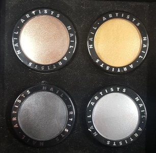 Nail Artists Acryl Color Powder Metallic set collection 2