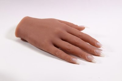 Silicone Practice Hand left (tan)
