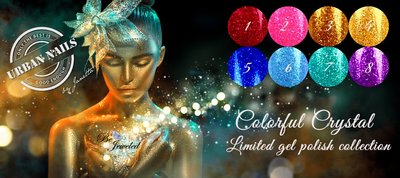 SUPER AANBIEDING! Colorful Crystal Limited Gel Polish Collection 8 stuks