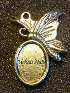 Zilveren Cabouchon Vlinder